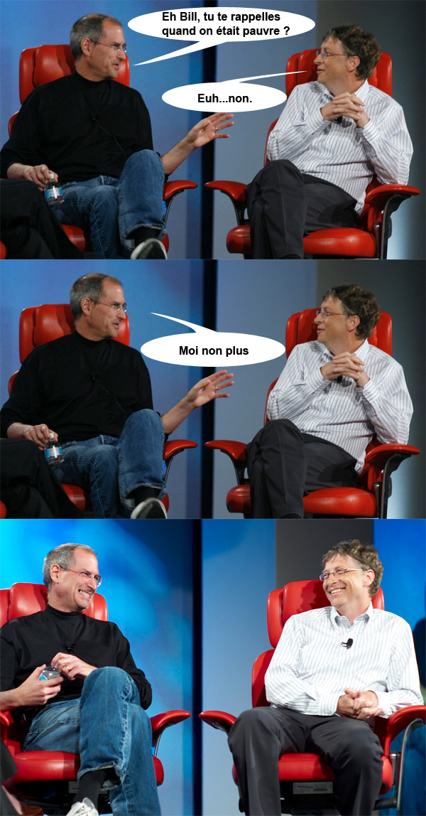 Steve Jobs contre Bill Gates